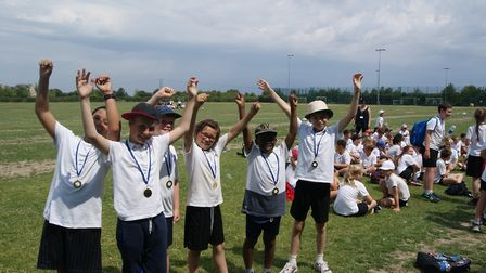 Hundreds of pupils showed off their sporting talents at the Schoolympics event held at Meridian Scho