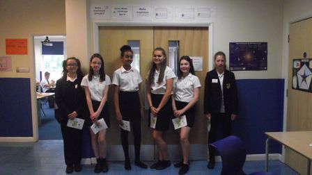 Year 9 leaders from Meridian School. Picture: Courtesy of Meridian