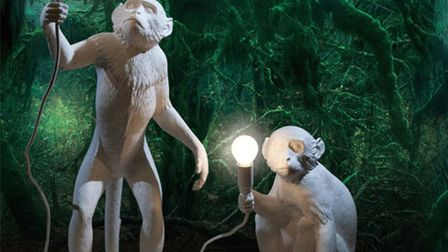 White monkey lampstand from the online lighting specialists Nedgis. £245 www.nedgis.com