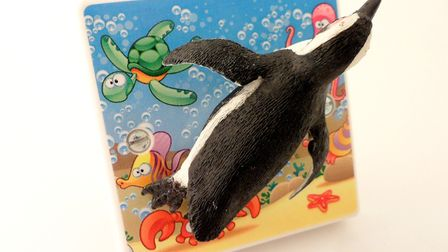 Diving Penguin light switch by Candy Queen Designs (29.99)
