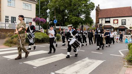 Sea Scouts Marching Band. Wheathampstead High Street. Picture: Simon Jenkins