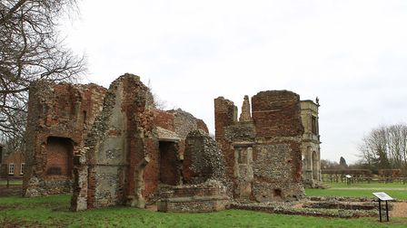 The ruins of Old Gorhambury House