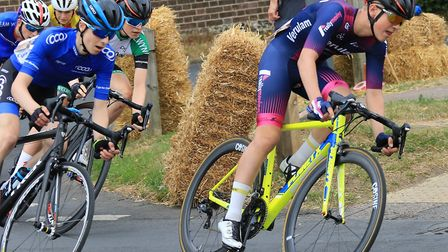 Matt Watson on his way to third in the U16 race at the Fete du Velo.