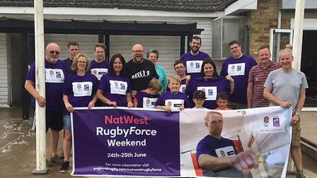 Around 40 members helped spruce up Verulamians Rugby Club as part of Rugby Force.