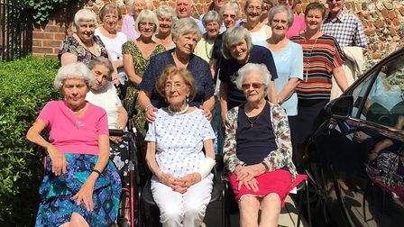 Ora celebrated her birthday with her friends, family and neighbours at Kennedy Court in Royston. Pic