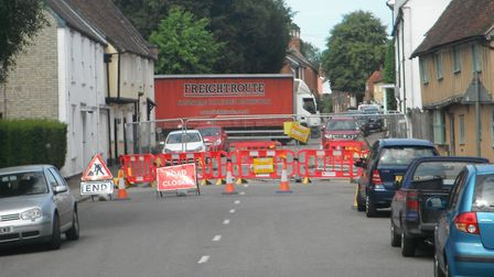 The road is due to be blocked for two weeks, causing significant disruption to motorists and village