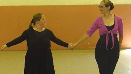 Sarah Simpson, left, performed a routine to True Colours by the cast of Glee, and it has been watche