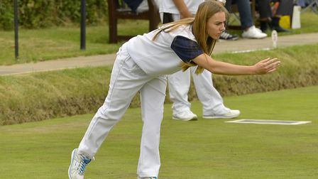 Chloe Brett on her way to one of her county titles.