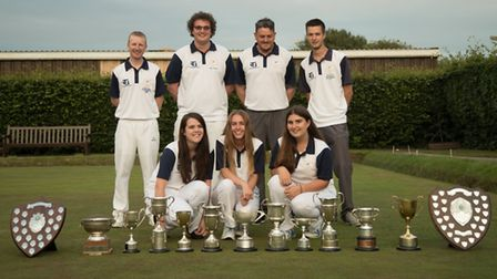 Some of the successful Warboys White Hart bowlers are, back row, left to right, Nick Brett, Ross Mar