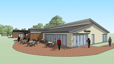 Concept drawing for a new community centre in Huntingdon