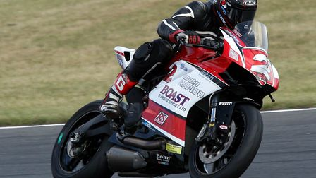 Jon Railton during the fourth round of the Ducati Performance TriOptions Cup. Picture: NIGEL SHEARIN