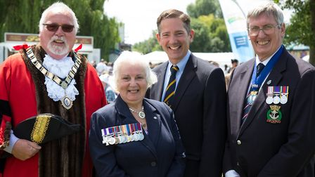 Cllr Derek Giles attended the Armed Forces Gala in St Neots