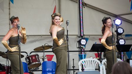 The Rockabellas at the Armed Forces Gala in St Neots
