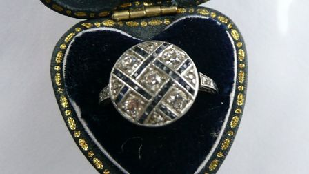 This distinctive ring was among a number of items of jewellery stolen during a burglary in St Albans
