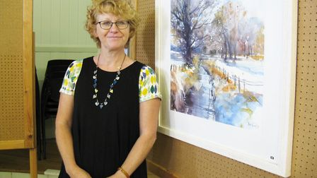 Jan Munro, who was crowned the overall exhibition winner at the 2016 summer exhibition for her paint