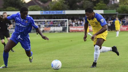 Shaun Lucien will be up against his former club when St Albans City host Wealdstone in their first N