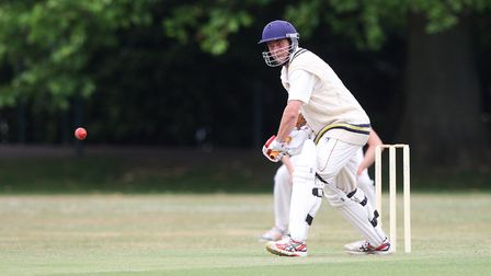 Phil Caley batting for St Albans against Knebworth Park. Picture: KARYN HADDON