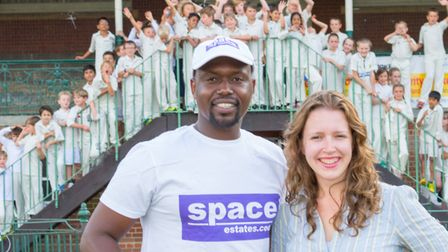 Mbekezeli Mabuza with Space Estates' lettings director Sian Cherrington. Picture: JEREMY BANKS