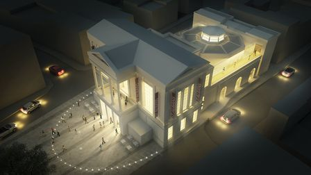 How the proposed new St Albans Museum and Art Gallery will look at night. Picture: ST ALBANS MUSEUMS