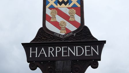 Harpenden town sign. Picture: DANNY LOO