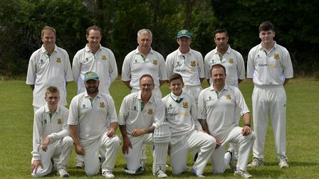 The Kimbolton 2nds team, who faced Brampton last Saturday, are, back row, left to right, John Tose,