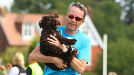 A runner brought his dog to the event. Picture: David Hatton