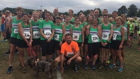 Riverside Runners members - and a dog - at the Colworth Marathon Challenge.