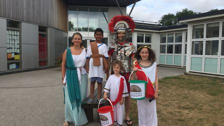 Mandeville Primary School marks Alban Day. Picture: MANDEVILLE PRIMARY SCHOOL