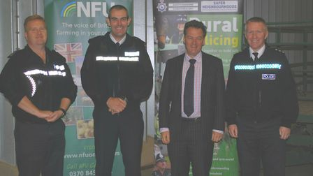 Left to right, Sgt Jamie Bartlett from the rural operational support team, chief constable Charlie H