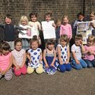 Abbey View Nursery children got a card from The Queen. Picture: ABBEY VIEW NURSERY