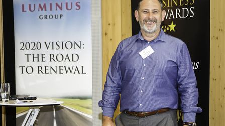 Stuart Gibbons at The Hunts Post Business Awards networking event