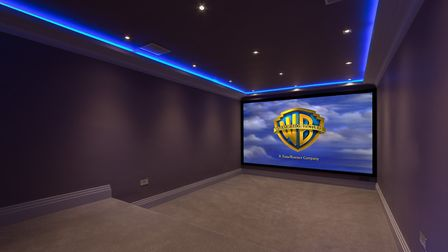 The cinema room is part of the basement leisure complex