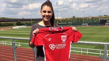 Carla Humphrey after signing for Bristol City Women. Picture: BRISTOL CITY WOMEN