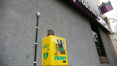 The new defibrillator is outside NatWest in High Street. Picture: Danny Loo