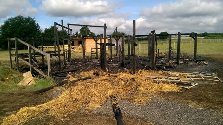 The outdoor classroom after the fire.