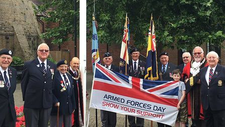 A flag-raising ceremony took place at the Priory Centre in St Neots