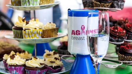 Bra bank and tea fundraiser at Atlas Translations. Picture: Juliet McGrory
