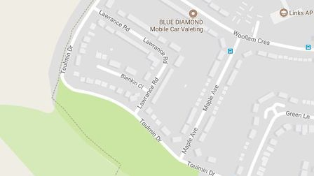 A single tree was alight in Toulmin Drive. Picture: Google Maps