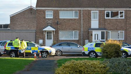 The shooting took place in Duck Lane, St Neots.