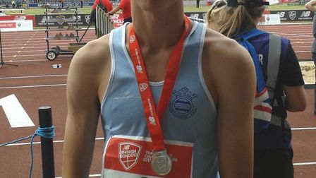 Julian Priest won silver at the English Schools' Championships.