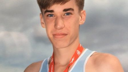 Joey Croft with his silver medal.