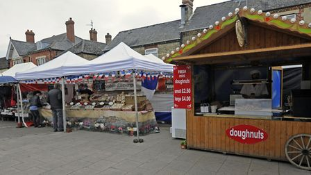 A European market visited Ramsey earlier this year, showcasing a wealth of different goods.
