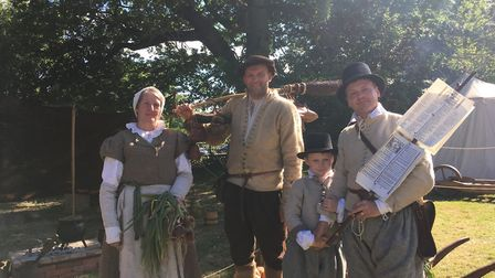 Tudors Katherine Adams, James Biddlecombe, Paul Hargreaves and seven-year-old Tom Hargreaves.