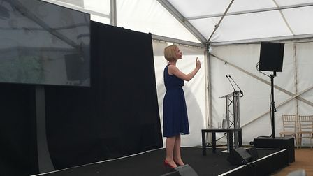 Lucy Worsley delivered her Jane Austen talk to a packed audience.
