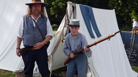 Confederate troops guarding their camp. Picture: Graham Jones