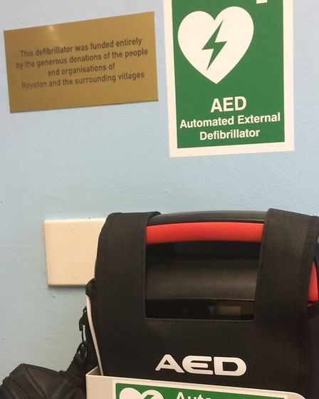 The new defibrillators were funded by donations from parents, students and the community.