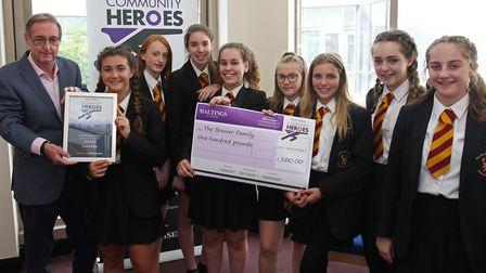 Pupils from Marlborough School have received a Maltings Community Award after raising more than £4,0