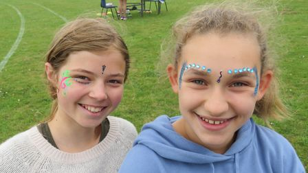 Students enjoying the fete at Bassingbourn Village College.