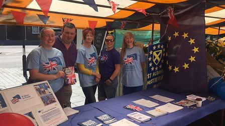St Albans for Europe market stall