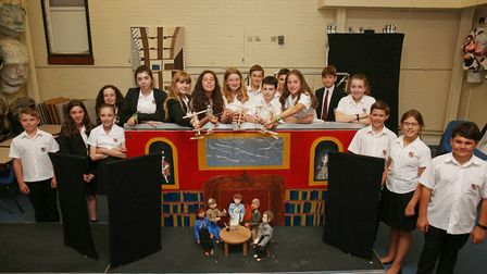 Beaumont pupils have been practicing for a puppet theatre for the St Albans Organ Festival. Picture: